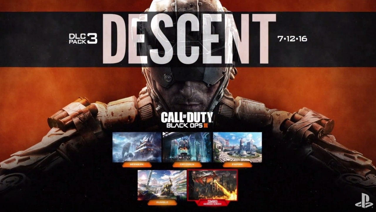 Call of Duty: Black Ops 3 – Descent DLC Multiplayer Trailer & Patch Notes Update 1.3