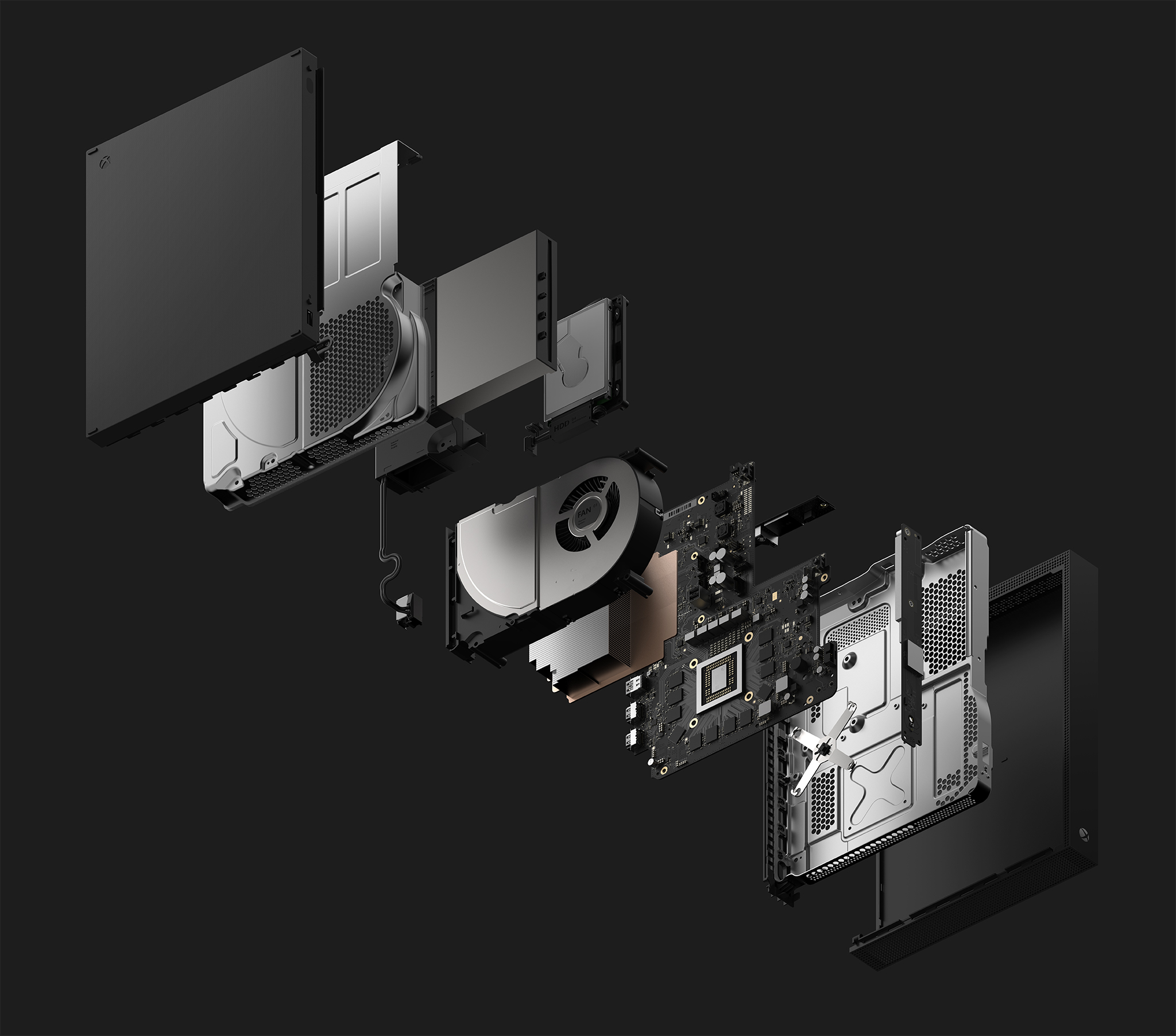 xbox one x das innenleben der leistungsst rksten konsole. Black Bedroom Furniture Sets. Home Design Ideas