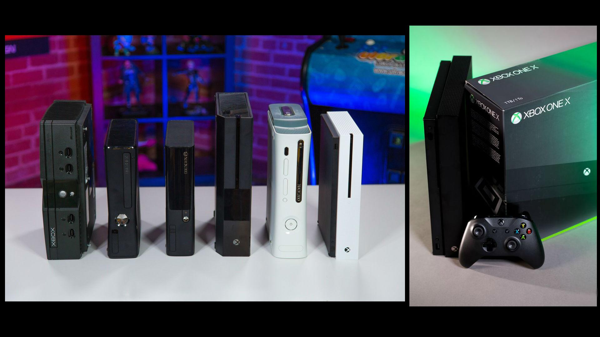 xbox von der xbox classic bis zur xbox one x ein blick. Black Bedroom Furniture Sets. Home Design Ideas